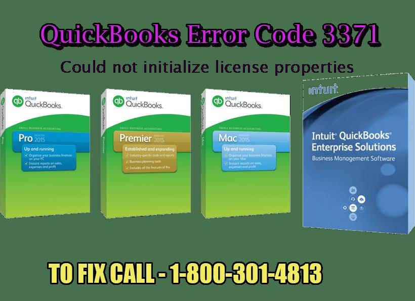Solutions of Intuit QuickBooks Error Code 3371