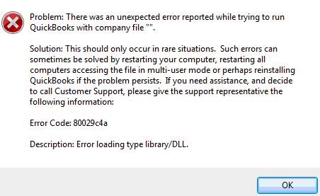 QuickBooks Error Code 80029c4a -Troubleshoot ,Fix,Support