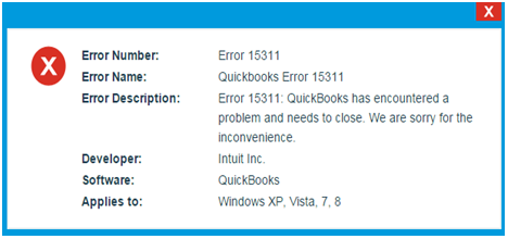 Intuit QuickBooks Error 15311