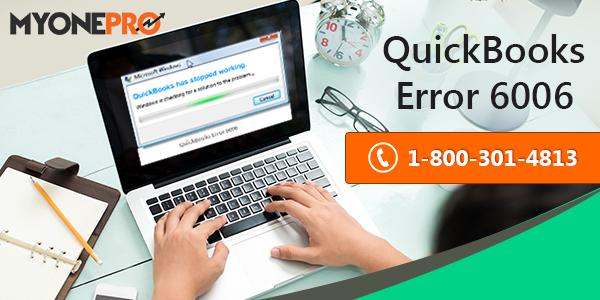 QuickBooks Error Code  6006