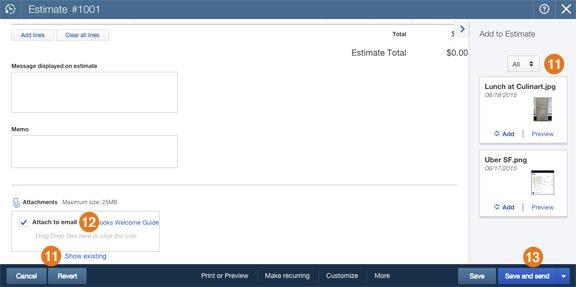 Quickbooks File Attachment Demo