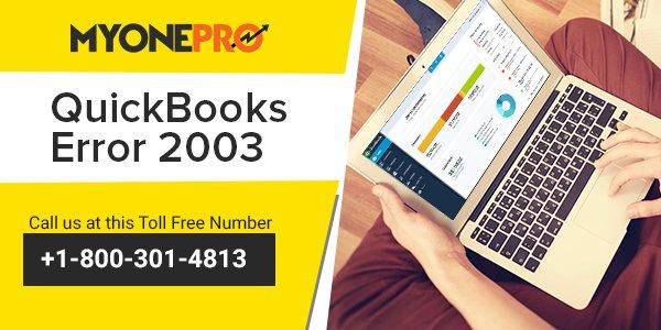 Solutions of QuickBooks Error 2003