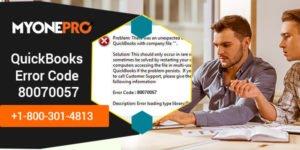 Qb error code 80070057