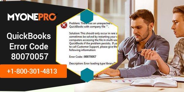 80070057 QuickBooks Error Troubleshooting