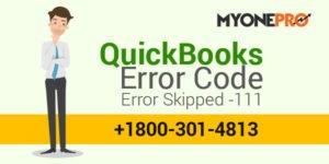How to Fix QuickBooks Error Skipped -111