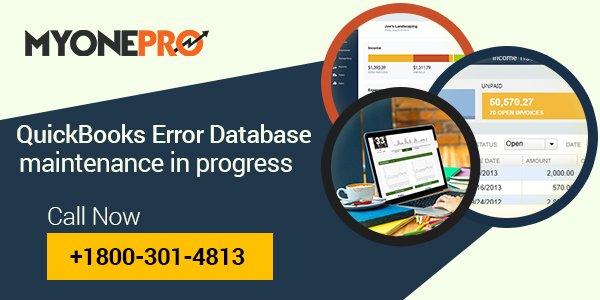 How to Fix Quickbooks Database Maintenance in Progress Error