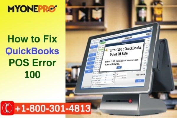 Troubleshooting POS QB Error Code 100