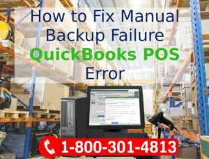 """Backup Failed "" Error QuickBooks Point of Sale Software"