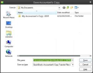 Save QB QB Create  Accountant's Copy