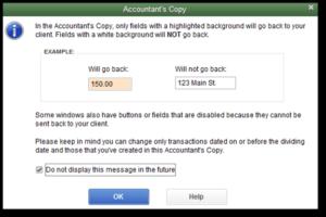 Send QB Create  Accountant's Copy QB
