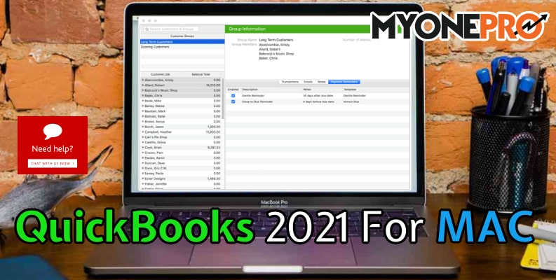 QuickBooks MAC 2021 Edition