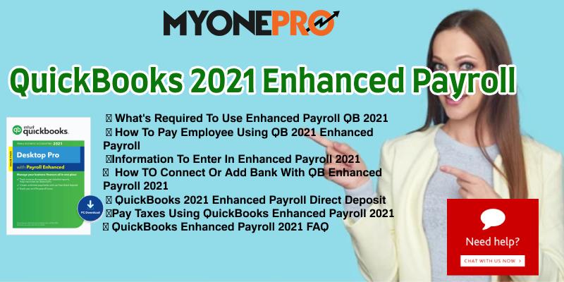 QuickBooks 2021 Enhanced Payroll Guide